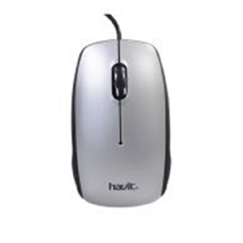 HAVIT Wired Optical Mouse [HV-MS322] - Silver - Mouse Basic
